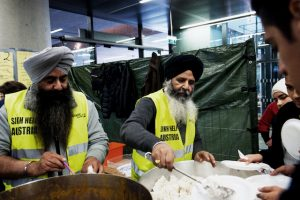 Sikh Help Austria provides 100 kg of curry daily to feed the hungry