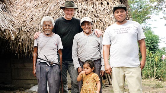 Josef Zotter with Mayan cocoa farmers in Belize