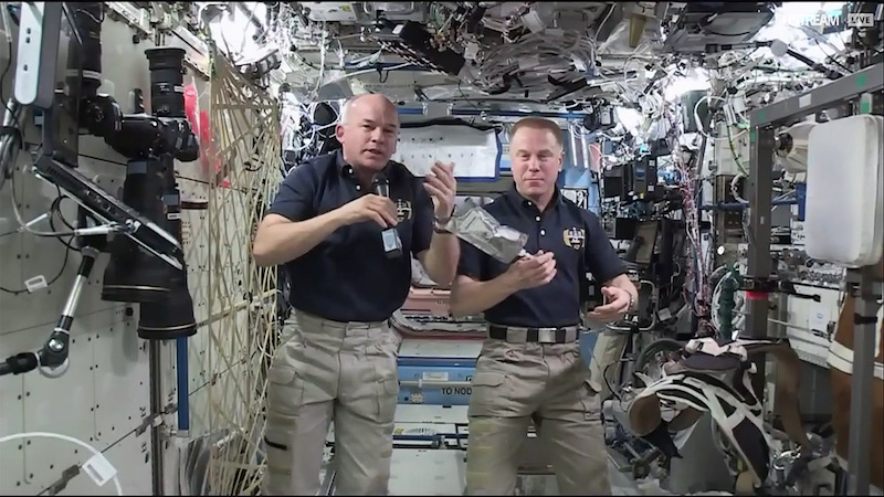 © NASA Ustream provides video streaming to more than 80 million viewers. Below, two astronauts answer questions live from the ISS on the NASA Public Ustream channel.