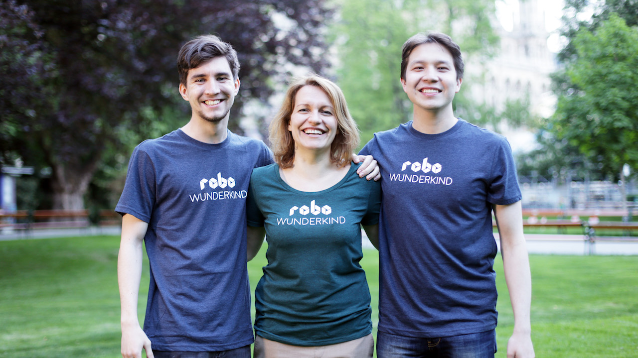 Robo Wunderkind's co-creators have just celebrated raising 3.5 times the trageted amount on Kickstarter. From left to right: Yuri Levin, Anna Iarotska and Rustem Akishbekov.