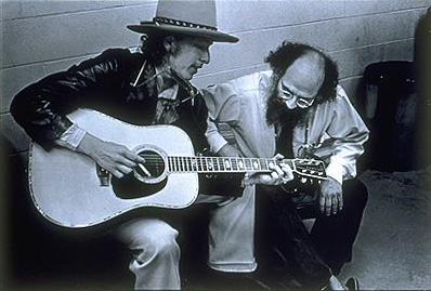 Dylan and Ginsberg (Photo by Elsa Dorfman)