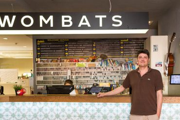 Profile | Florian Kritzner, manager of Wombats Naschmarkt, takes care of every traveler's need